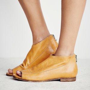 Free people shoreline boot sandal mustard